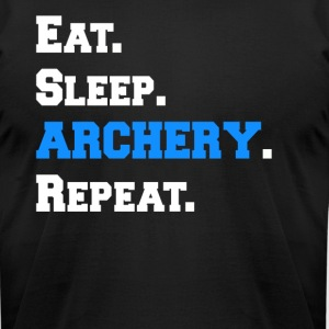 Cool Eat Sleep Archery Repeat Novelty Funny Shirts - Men's T-Shirt by American Apparel