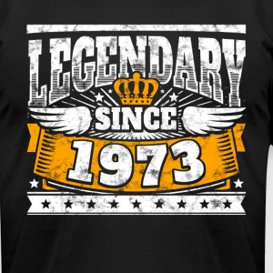 Legend Birthday: Legendary since 1973 birth year - Men's T-Shirt by American Apparel