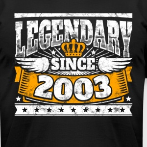 Legend Birthday: Legendary since 2003 birth year - Men's T-Shirt by American Apparel