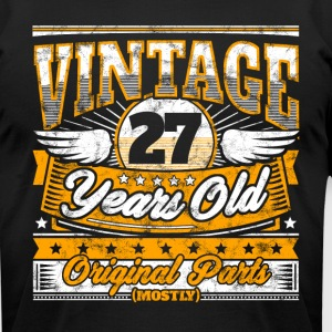 Funny 27th Birthday Shirt: Vintage 27 Years Old - Men's T-Shirt by American Apparel