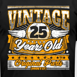 Funny 25th Birthday Shirt: Vintage 25 Years Old - Men's T-Shirt by American Apparel
