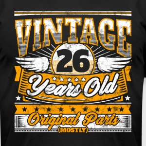 Funny 26th Birthday Shirt: Vintage 26 Years Old - Men's T-Shirt by American Apparel