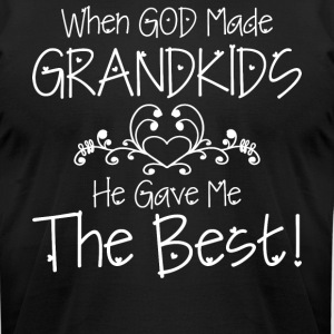 God Made Grandkids T Shirt - Men's T-Shirt by American Apparel