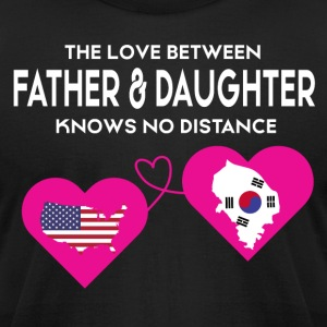 The Love Between Father And Daughter T Shirt - Men's T-Shirt by American Apparel