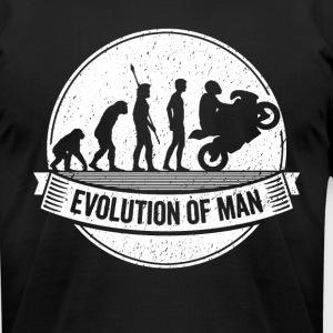 Funny Biker Motorbike Evolution Motorcycle T Shirt - Men's T-Shirt by American Apparel