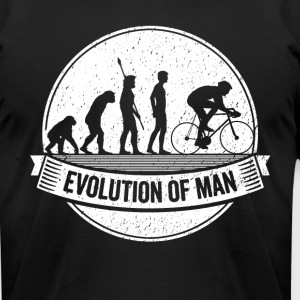 Funny Biker Graphic Cyclist Evolution Bicycle Tee - Men's T-Shirt by American Apparel