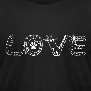 I Love Animals T Shirt - Men's T-Shirt by American Apparel