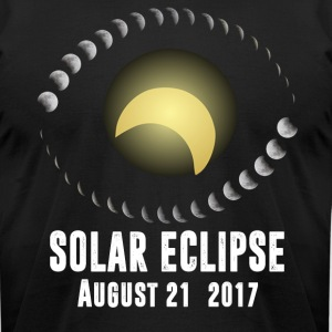 Total Solar Eclipse August 21 2017 T-Shirt - Men's T-Shirt by American Apparel