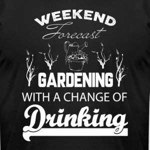 Weekend Forecast Gardening T Shirt - Men's T-Shirt by American Apparel