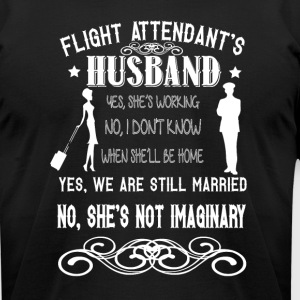 Flight Attendant's Husband T Shirt - Men's T-Shirt by American Apparel