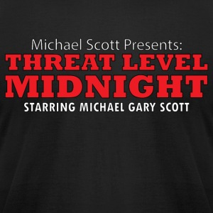 Threat Level Midnight - Men's T-Shirt by American Apparel
