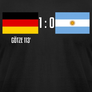 Germany 1-0 Argentina - Men's T-Shirt by American Apparel