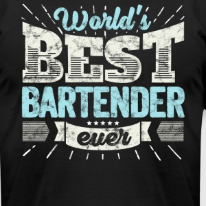 Worlds Best Bartender Ever Funny Gift - Men's T-Shirt by American Apparel