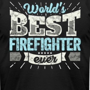 Worlds Best Firefighter Ever Funny Gift - Men's T-Shirt by American Apparel