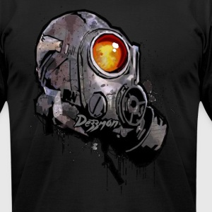 GAS MASK - DEZZMON - Men's T-Shirt by American Apparel