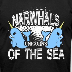 NARWHALS UNICORNS OF THE SEA SHIRT - Men's T-Shirt by American Apparel
