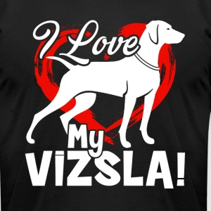 GENERIC LOVE VIZSLA BLACK SHIRTS - Men's T-Shirt by American Apparel