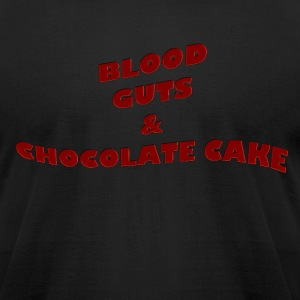 Blood,guts and chocolate cake - Men's T-Shirt by American Apparel