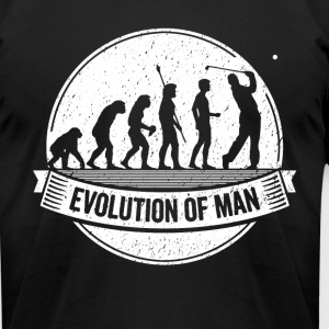 Funny Golfer: Graphic Golf Evolution Golfing Shirt - Men's T-Shirt by American Apparel