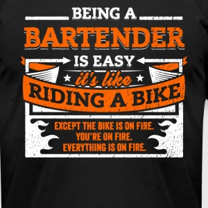 Bartender Shirt: Being A Bartender Is Easy - Men's T-Shirt by American Apparel