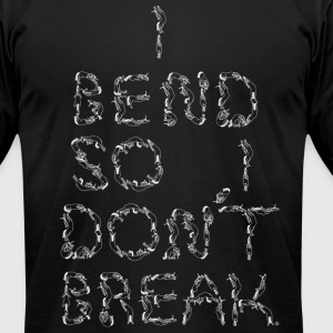 I Bend So I Dont Break unicorn letters white - Men's T-Shirt by American Apparel