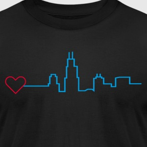 Heart for Chicago - Men's T-Shirt by American Apparel