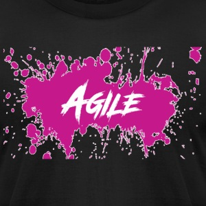 AgileNation Splatter Design - Men's T-Shirt by American Apparel
