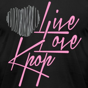 LiveLoveKpop - Men's T-Shirt by American Apparel
