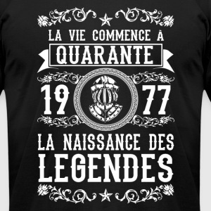 1977 - 40 ans - Légendes - 2017 - FR - Men's T-Shirt by American Apparel