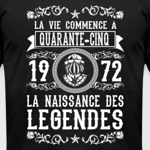1972 - 45 ans - Légendes - 2017 - FR - Men's T-Shirt by American Apparel
