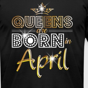 Queens are born in April - gold - Men's T-Shirt by American Apparel