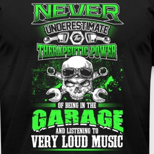 Never Underestimate a Mechanic - Men's T-Shirt by American Apparel