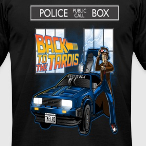 Tardis Dr. Who - Men's T-Shirt by American Apparel