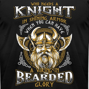 Bearded Glory Viking - Men's T-Shirt by American Apparel