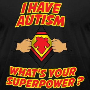 AUTISM AWARENESS SHIRT FOR KIDS - AUTISM POWER - Men's T-Shirt by American Apparel