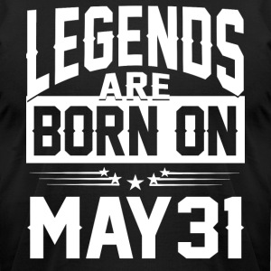 Legends are born on May 31 - Men's T-Shirt by American Apparel