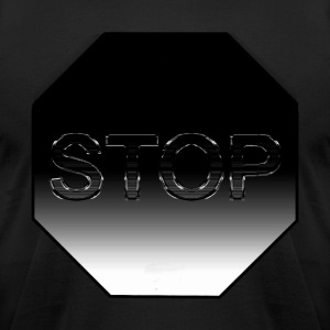 Stop Sign - Men's T-Shirt by American Apparel