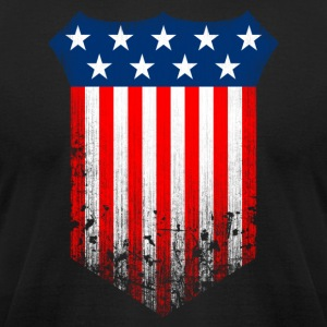 US Banner Grunge Flag - Men's T-Shirt by American Apparel