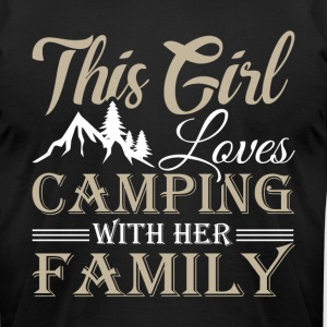 This Girl Loves Camping With Her Family T Shirt - Men's T-Shirt by American Apparel