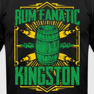 Rum Fanatic T-shirt - Kingston, Jamaica - Men's T-Shirt by American Apparel