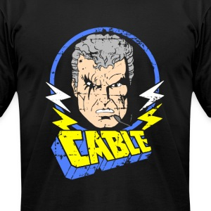 Cable • X-Men Cartoon - Men's T-Shirt by American Apparel