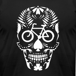 The Crazy Cranium Bicycle - Men's T-Shirt by American Apparel