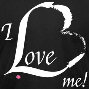 I Love me in white - Men's T-Shirt by American Apparel