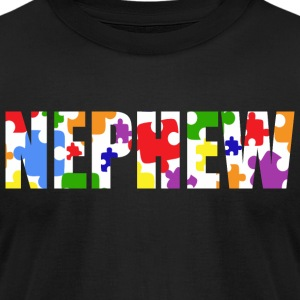 Autism Nephew Awareness - Men's T-Shirt by American Apparel