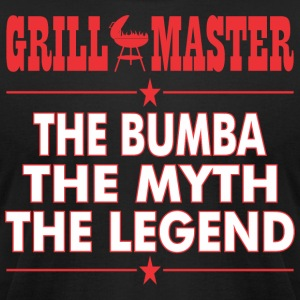Grillmaster The Bumba The Myth The Legend BBQ - Men's T-Shirt by American Apparel