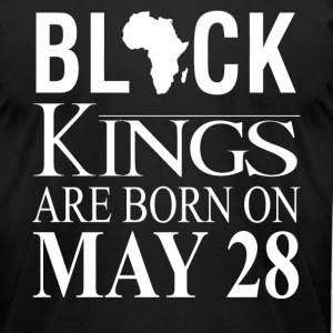 Black kings born on May 28 - Men's T-Shirt by American Apparel