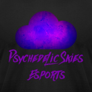 Psychedelic Skies Team Logo - Men's T-Shirt by American Apparel