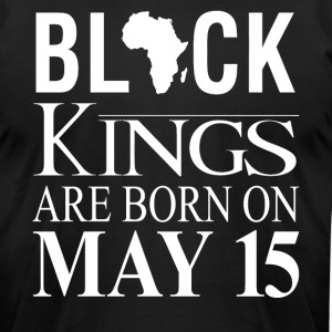 Black kings born on May 15 - Men's T-Shirt by American Apparel