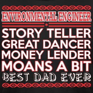 Environment Enginr Story Teler Dancr Best Dad Ever - Men's T-Shirt by American Apparel
