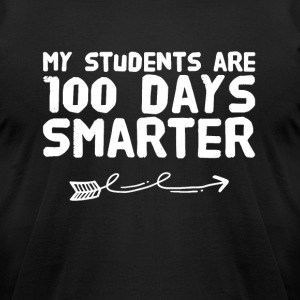 My students are 100 days smarter - Men's T-Shirt by American Apparel